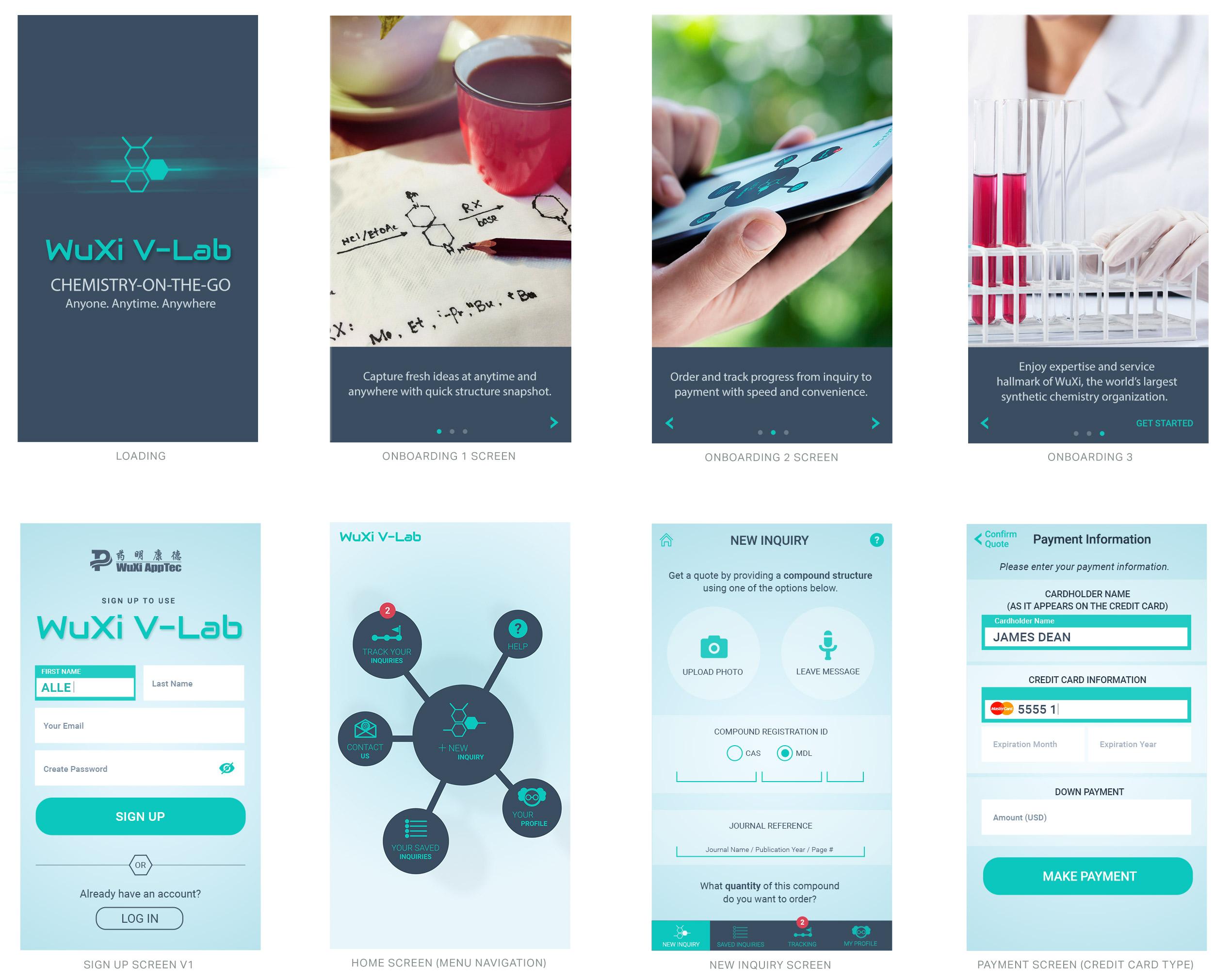 WuXi V-Lab Mobile App Design