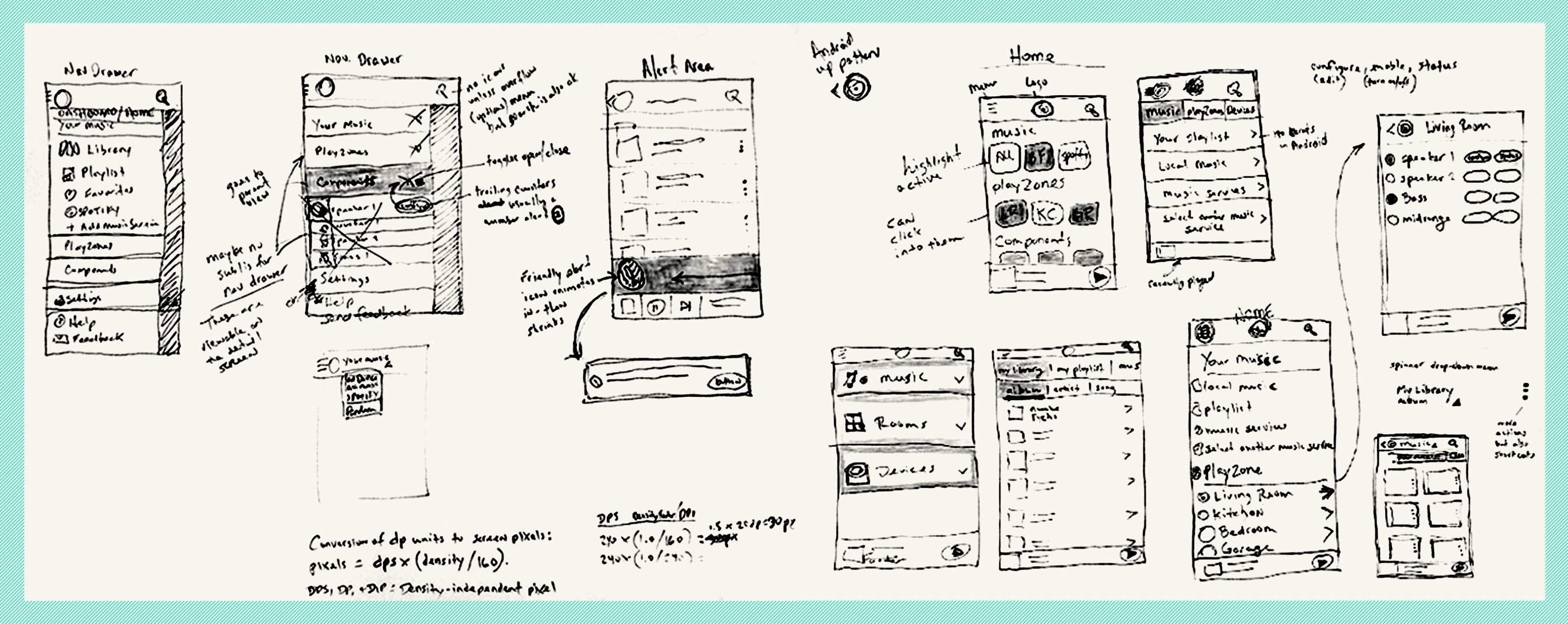 Rough Sketches of the App