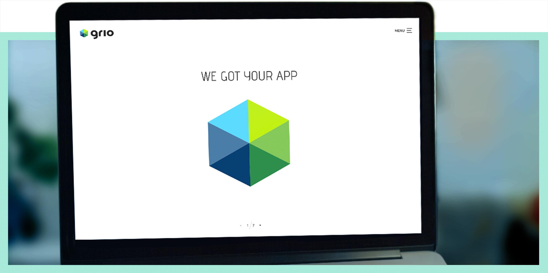 Grio website design by Robert Jarrell