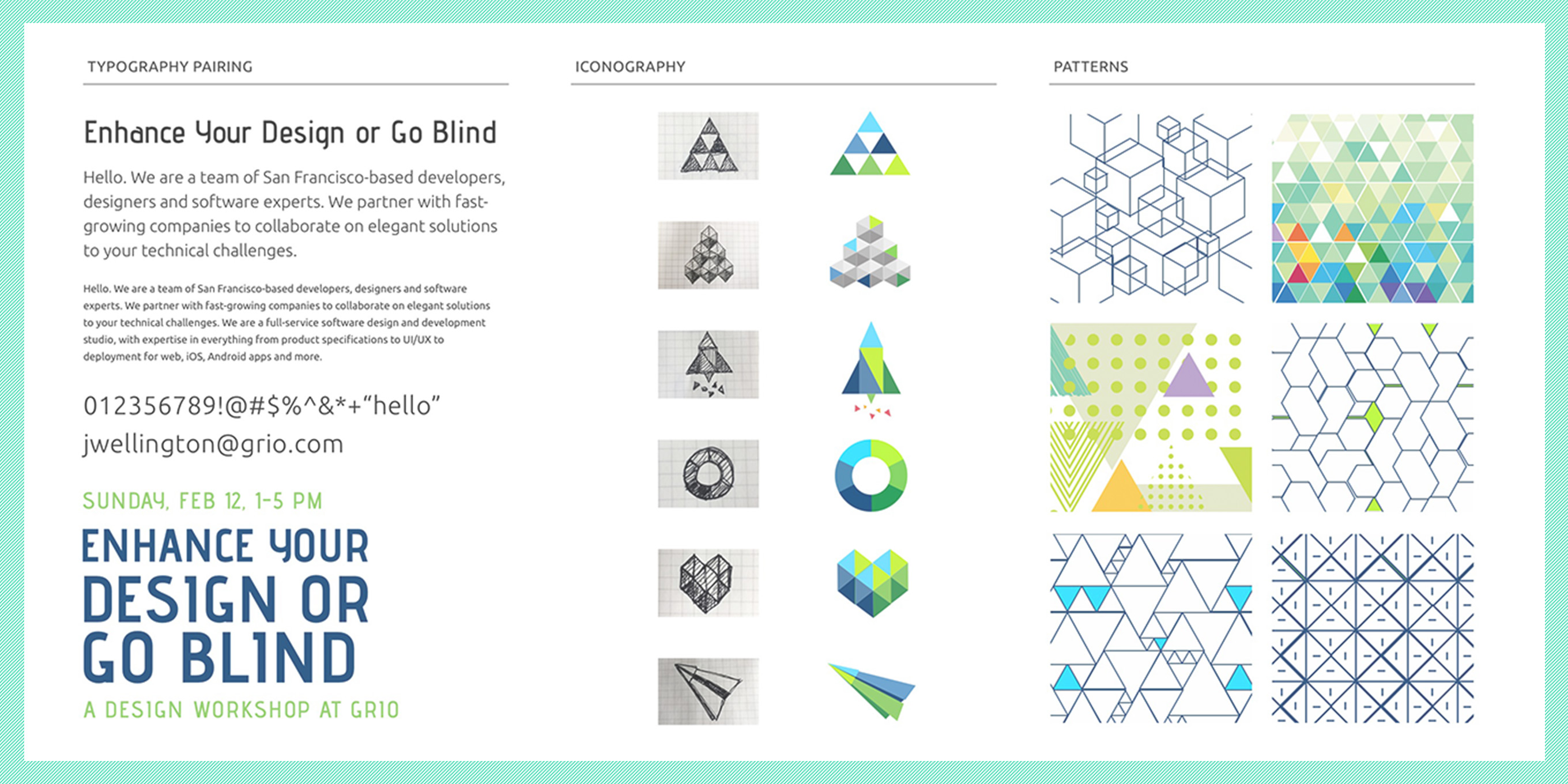Design elements from the toolkit