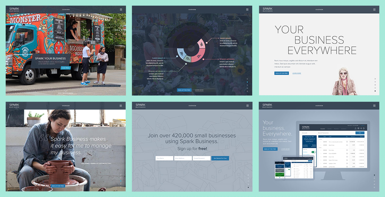 Blue Sky Marketing Site Concepts