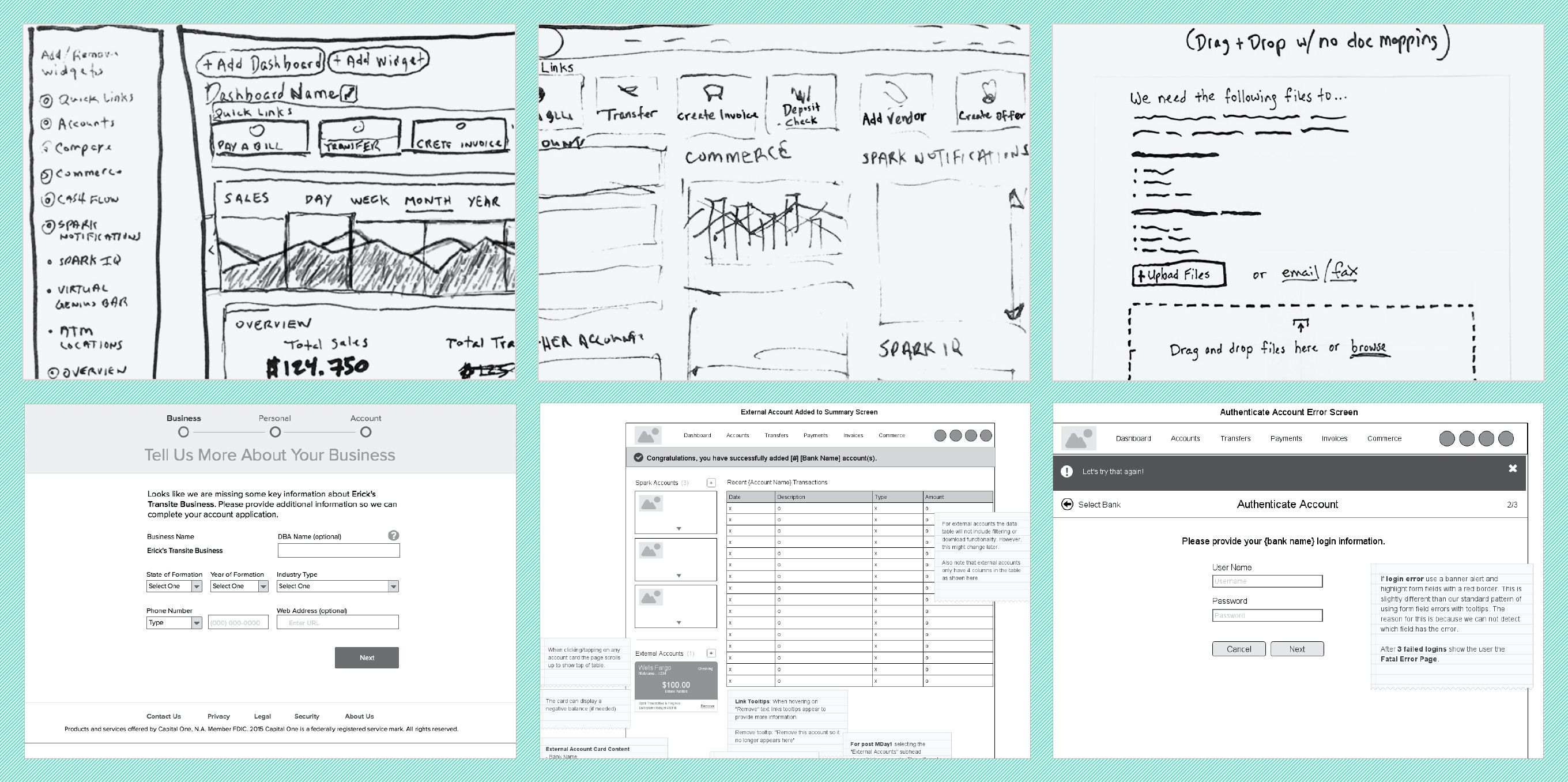 Various Sketches & Wireframe Examples