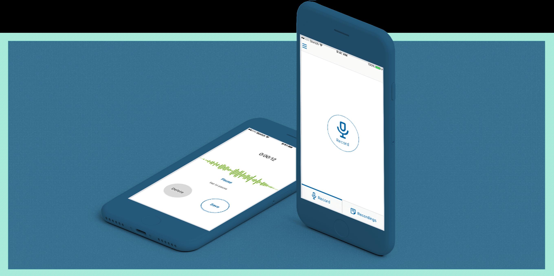 Transcriber mobile app design by Robert Jarrell